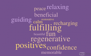 Word art of wellness experiences